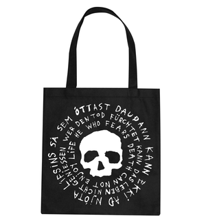 Dead Skeletons - Dead Mantra Tote Bag - Black or White,Tote Bag,Fuzz Club - Fuzz Club