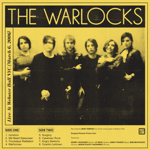 Pre-Order: The Warlocks - Live At Webster Hall