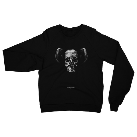 Skull with ears 001 | Heavy Blend Crew Neck Sweatshirt