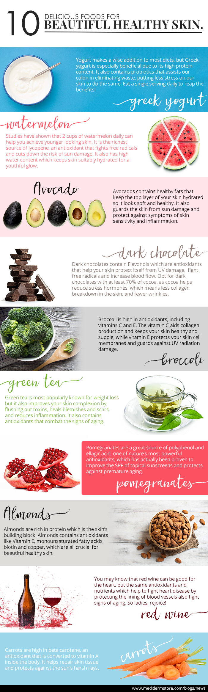 10 Delicious Foods for Beautiful Healthy Skin – Mediderm