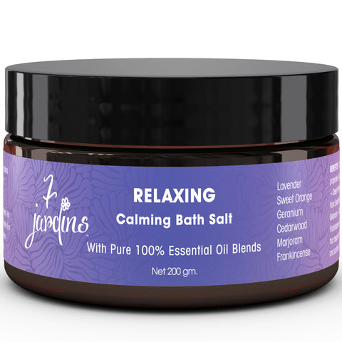 7 Jardins Relaxing Calming Bath Salt with 100% Natural & Pure Therapeutic Grade Dead Sea & Epsom Salts with Essential Oils (Lavender, Sweet Orange, Geranium, Cedarwood, Marjoram & Frankincense) - Mediderm - 1