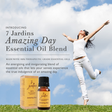 "7 Jardins Natural Brain Energizer  ★100% Pure Therapeutic Essential Oil ""Amazing Day"" (10 ml) ★Stimulate Brain Activity & Memory ★Enriched with Plant Based Natural Ingredients - Mediderm - 3"