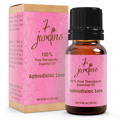 "7 Jardins Libido Booster  ★100% Pure Therapeutic Essential Oil ""Aphrodisiac Love"" (10 ml) ★Stimulate Sexual Drive  ★Enriched with Powerfull Plant Based Natural Ingredients - Mediderm - 1"