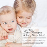 7 Jardins Natural Baby Shampoo & Body Wash - 2 in 1 Soothing for the Hair & Body Enriched with Calendula & Therapeutic Essential Oils. 8 oz. Gentle for Children of All Ages - Mediderm - 3