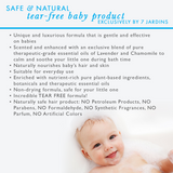 7 Jardins Unscented Natural Baby Shampoo & Body Wash - 2 in 1 Soothing for Hair & Body 8 oz. Gentle for Children of All Ages - 100% Safe & Sulfate Free - Mediderm - 4