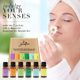 "7 Jardins ""Life is Beautiful"" Essential Oils Synergy Blends Kit - Top 6 Essential Oils Aromatherapy Kit 100% Pure Therapeutic Essential Oils Gift Pack - Mediderm - 2"