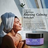 7 Jardins Relaxing Calming Bath Salt with 100% Natural & Pure Therapeutic Grade Dead Sea & Epsom Salts with Essential Oils (Lavender, Sweet Orange, Geranium, Cedarwood, Marjoram & Frankincense) - Mediderm - 3