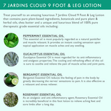 "7 Jardins ""Cloud 9"" Foot & Leg Lotion with Shea Butter, Herbal & Essential Oils (Eucalyptus, Peppermint, Bergamot & Rosemary) Gentle & Soothing, Sulfate & Paraben Free - Mediderm - 5"