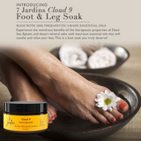 "7 Jardins ""Cloud 9"" Foot & Leg Soak for Relaxation with 100% Natural & Pure Therapeutic Grade Dead Sea and Epsom Salts with Essential Oils (Tea Tree, Eucalyptus & Lavendin) Sulfate & Paraben Free - Mediderm - 3"