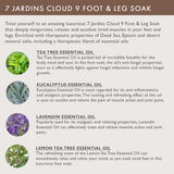 "7 Jardins ""Cloud 9"" Foot & Leg Soak for Relaxation with 100% Natural & Pure Therapeutic Grade Dead Sea and Epsom Salts with Essential Oils (Tea Tree, Eucalyptus & Lavendin) Sulfate & Paraben Free - Mediderm - 5"