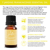 7 Jardins Premium Frankincense 100% Pure & Natural Therapeutic Grade Essential Oil. Olibanum 10 ml - For Aromatherapy, Anti Aging, Reducing Inflammation, Arthritic Pain & Scar Tissue - Mediderm - 6