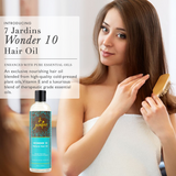 "7 Jardins ""Wonder 10"" Natural Hair Oil 100% Pure, Natural & Organic Therapeutic Grade 4 oz- for Repair Dry/ Damaged Hair & Scalp, Stimulates Hair Growth - Mediderm - 3"