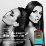 7 Jardins Premium Argan Natural Aromatherapy Shampoo - 16 oz - Best Moisturizing, Volumizing & Nourishing Shampoo for Damaged & Dry Hair with Therapeutic Essential Oils for Men & Women - Mediderm - 3