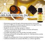 Lemon Essential Oil -(Siciian) Citrus Limonum- 100% Pure