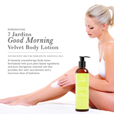 7 Jardins Good Morning Velvet Body Lotion - Daily Body Moisturizer for All Skin Types Enriched with  Lemongrass, Jasmine, Vetiver, Sage and Lavendin Essential Oils - 100% Safe & Sulfate Free - Mediderm - 3