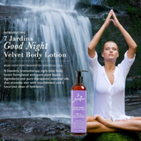 7 Jardins Good Night Velvet Body Lotion - Daily Body Moisturizer for All Skin Types Enriched with Lavender, Sweet Orange, Geranium, Cedarwood & Frankincense Essential Oils - 100% Safe & Sulfate Free - Mediderm - 3
