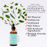 "7 Jardins Mind, Nose & Throat Cleaner Therapeutic Essential Oil  ★ 100% Pure Peppermint ""Mentha Pipiretta"" (120 ml) ★Stimulates Digestion & Ease Muscles ★Enriched with Plant Based Natural Ingredients - Mediderm - 3"