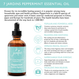"7 Jardins Mind, Nose & Throat Cleaner Therapeutic Essential Oil  ★ 100% Pure Peppermint ""Mentha Pipiretta"" (120 ml) ★Stimulates Digestion & Ease Muscles ★Enriched with Plant Based Natural Ingredients - Mediderm - 5"