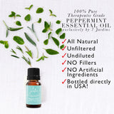 "7 Jardins Mind, Nose & Throat Cleaner Therapeutic Essential Oil  ★ 100% Pure Peppermint ""Mentha Pipiretta"" (10 ml) ★Stimulates Digestion & Ease Muscles ★Enriched with Plant Based Natural Ingredients - Mediderm - 4"
