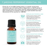 "7 Jardins Mind, Nose & Throat Cleaner Therapeutic Essential Oil  ★ 100% Pure Peppermint ""Mentha Pipiretta"" (10 ml) ★Stimulates Digestion & Ease Muscles ★Enriched with Plant Based Natural Ingredients - Mediderm - 5"