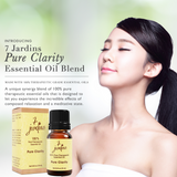 "7 Jardins Brain Stimulator Therapeutic Essential Oil ""Pure Clarity"" (10ml) ★ Stimulates Brain Activity & Memory ★Enriched with Plant Based Natural Ingredients - Mediderm - 3"
