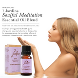 "7 Jardins Soul Meditation Synergy Blender ★100% Pure Therapeutic Essential Oil ""Soulful Meditation""  (10 ml) ★Enhances your Meditation Experience ★Enriched with Plant Based Natural Ingredients - Mediderm - 3"