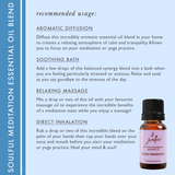 "7 Jardins Soul Meditation Synergy Blender ★100% Pure Therapeutic Essential Oil ""Soulful Meditation""  (10 ml) ★Enhances your Meditation Experience ★Enriched with Plant Based Natural Ingredients - Mediderm - 4"