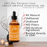 "7 Jardins Immunity Booster Therapeutic Essential Oil ★100% Pure Sweet Orange ""Citrus Sinensis"" (120 ml) ★Enhances Your Mood ★Protects & Heals Skin ★Enriched with Plant Based Natural Ingredients - Mediderm - 4"