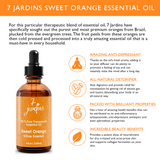 "7 Jardins Immunity Booster Therapeutic Essential Oil ★100% Pure Sweet Orange ""Citrus Sinensis"" (120 ml) ★Enhances Your Mood ★Protects & Heals Skin ★Enriched with Plant Based Natural Ingredients - Mediderm - 5"