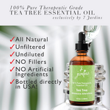 "7 Jardins Skin Ailment Therapeutic Essential Oil ★100% Pure Tea Tree ""Melaleuca Alternifolia"" (120 ml) ★Becteria & Mold Killer ★Boosts Immunity & Clear your Mind ★Enriched with Plant Based Natural Ingredients - Mediderm - 5"