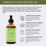 "7 Jardins Skin Ailment Therapeutic Essential Oil ★100% Pure Tea Tree ""Melaleuca Alternifolia"" (120 ml) ★Becteria & Mold Killer ★Boosts Immunity & Clear your Mind ★Enriched with Plant Based Natural Ingredients - Mediderm - 6"