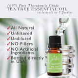 "7 Jardins Skin Ailment Therapeutic Essential Oil ★100% Pure Tea Tree ""Melaleuca Alternifolia"" (10 ml) ★Becteria & Mold Killer ★Boosts Immunity & Clear your Mind ★Enriched with Plant Based Natural Ingredients - Mediderm - 4"