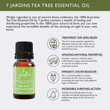 "7 Jardins Skin Ailment Therapeutic Essential Oil ★100% Pure Tea Tree ""Melaleuca Alternifolia"" (10 ml) ★Becteria & Mold Killer ★Boosts Immunity & Clear your Mind ★Enriched with Plant Based Natural Ingredients - Mediderm - 5"