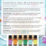 "7 Jardins ""Must-Haves"" Top 6 Essential Oils Aromatherapy Kit 100% Pure & Therapeutic Grade 10ml - Beginner Sampler Gift Set (Lavender French, Sweet Orange, Tea Tree, Eucalyptus, Peppermint & Lemongrass) - Mediderm - 3"