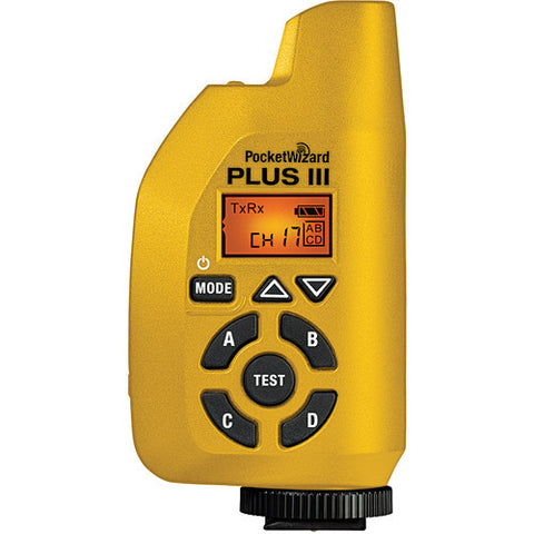 PocketWizard PLUS III Auto-Sensing Transreicever (Yellow) - Rental