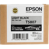Epson UltraChrome K3 Light Black Ink Cartridge (80 ml) T5807