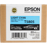 Epson UltraChrome K3 Light Cyan Ink Cartridge (80 ml) T5805