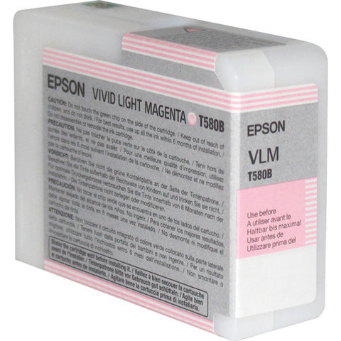 Epson UltraChrome K3 Vivid Light Magenta Ink Cartridge (80 ml) T580B