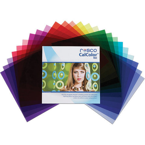 "Rosco CalColor Filter Kit, 12""x12"" Sheets"