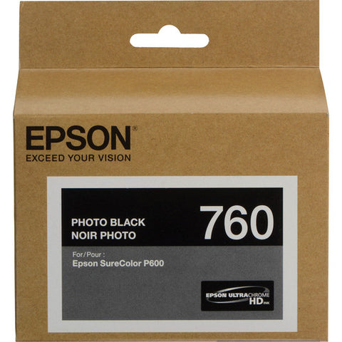 Epson T760 Photo Black Ultrachrome HD Ink Cartridge T760120