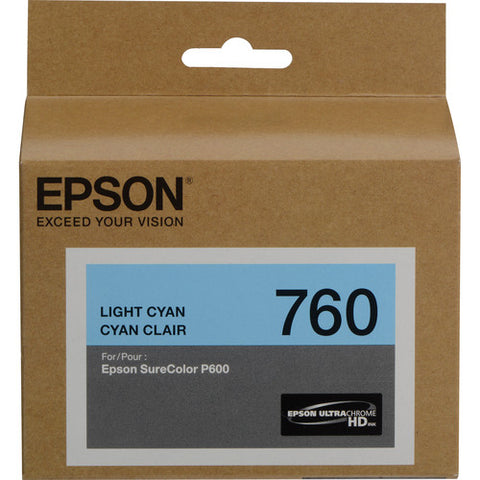 Epson T760 Light Cyan Ultrachrome HD Ink Cartridge T760520