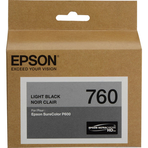 Epson T760 Light Black Ultrachrome HD Ink Cartridge T760720
