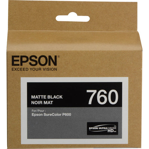 Epson T760 Matte Black Ultrachrome HD Ink Cartridge T760820