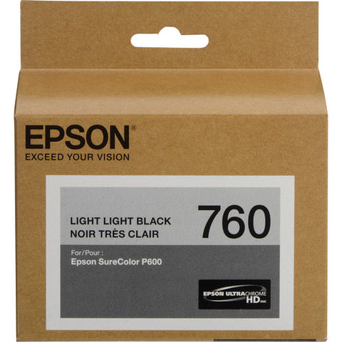 Epson T760 Light Light Black Ultrachrome HD Ink Cartridge T760920