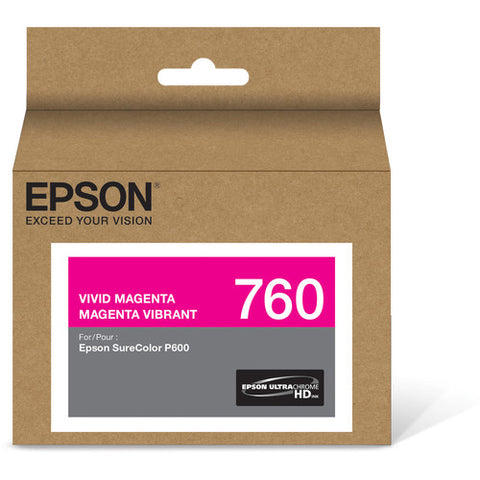 Epson T760 Vivid Magenta Ultrachrome HD Ink Cartridge T760320