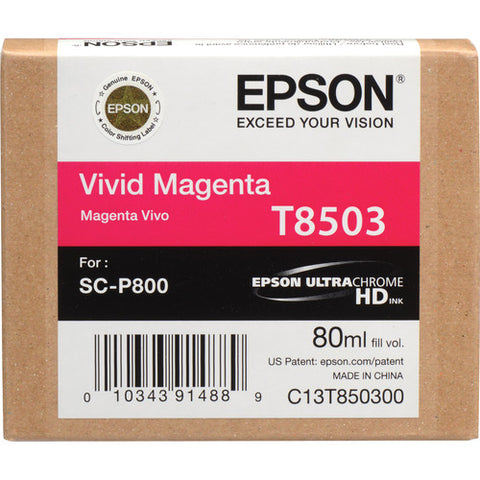 Epson T850300 UltraChrome HD Vivid Magenta Ink Cartridge (80 ml)