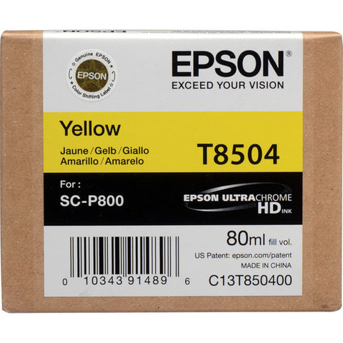 Epson T850400 UltraChrome HD Yellow Ink Cartridge (80 ml)