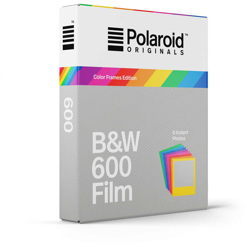 Polaroid Originals 4673 Black & White Glossy Instant Film for 600 Cameras - Color Frames