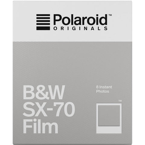 Polaroid Originals 4677 Black and White Glossy Instant Film for Polaroid SX70 Cameras