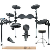Alesis Command 8-Piece Electronic Drum Kit with Module + Drum Throne + Extra Pair of Sticks